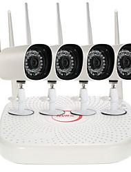 Недорогие -szsinocam @ 4-канальная беспроводная система видеонаблюдения h.264 аудиозапись 2-мегапиксельная 1080p 4ch mini nvr kit водонепроницаемый наружный комплект видеонаблюдения для обнаружения движения