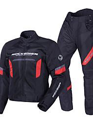hesapli -Erkekler motosiklet sürme takım elbise kros yarış koruyucu giysi yansıtıcı çizgi categorysuit ile set siyah ve kırmızı
