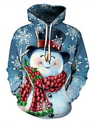 Недорогие -Муж. Хэллоуин / Рождество Толстовка - Контрастных цветов / 3D / Мультипликация