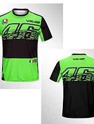 Недорогие -новый 2019 тонкий 46 зеленый быстросохнущий внедорожный мотоцикл езда с короткими рукавами гоночный рыцарь быстросохнущая дышащая мото мотоцикл мужская футболка