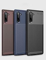 Недорогие -Кейс для Назначение SSamsung Galaxy Samsung Note 10 / Galaxy Note 10 Plus Защита от удара / Ультратонкий Кейс на заднюю панель Однотонный Углеродное волокно