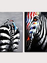 Недорогие -Mintura ручная роспись зебра животных живопись маслом на холсте современные абстрактные стены искусства картины для гостиной комнаты украшения дома готовы повесить