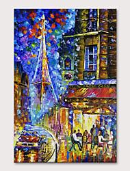 Недорогие -Hang-роспись маслом Ручная роспись - Пейзаж Абстрактные пейзажи Modern Без внутренней части рамки