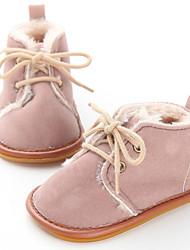 Недорогие -Мальчики / Девочки Обувь для малышей Хлопок Ботинки Младенцы (0-9m) / Малыш (9м-4ys) Синий / Розовый / Цвет-леопард Зима / Резина