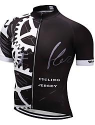 billige -WEIMOSTAR Herre Kortærmet Cykeltrøje Sort Nyhed Cykel Træningsdragt Trøje Toppe Åndbart Sport Polyester Elastin Terylene Bjerg Cykling Vej Cykling Tøj / Mikroelastisk