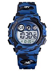 Недорогие -SKMEI Мальчики электронные часы Цифровой силиконовый Синий / Зеленый / Темно-синий 50 m Защита от влаги будильник Хронометр Цифровой Новое поступление Мода - Зеленый Синий Темно-синий