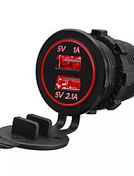 Недорогие -lossmann 5v 3.1a двойной порт usb автомобильное зарядное устройство розетка автомобильный адаптер розетка супер водонепроницаемый для iphone huawei внедорожник мотоцикл лодка фургон dc 12v-24v