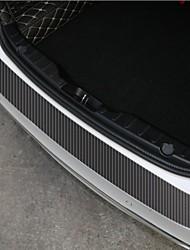 Недорогие -60x6.7cm универсальный автомобиль наклейки на пороге тапочки анти царапин углеродного волокна авто наклейки наклейки