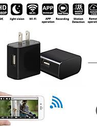 Недорогие -мини Wi-Fi 4k камера зарядное устройство беспроводной USB няня камера ночного видения