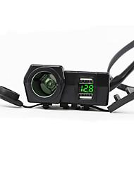 Недорогие -5v 3.1a двойной usb мотоцикл зарядное устройство для крепления руля со светодиодным цифровым дисплеем для мобильных телефонов iphone samsung и xiaomi