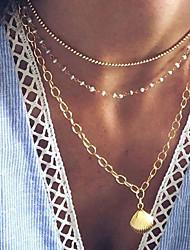 povoljno -Žene Ogrlica slojeviti Ogrlice Krom Zlato 52 cm Ogrlice Jewelry 1pc Za Dnevno Škola Ulica Praznik Festival