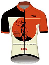 Недорогие -21Grams Пикассо Муж. С короткими рукавами Велокофты - Red and White Велоспорт Джерси Верхняя часть Дышащий Быстровысыхающий Со светоотражающими полосками Виды спорта 100% полиэстер / Слабоэластичная