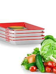 Недорогие -Умный лоток творческий пищевой пластиковый лоток для хранения кухонных принадлежностей контейнер для хранения продуктов питания набор для хранения свежих продуктов микроволновая печь