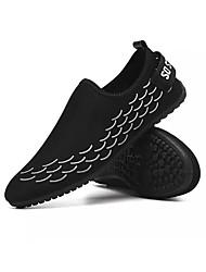 Недорогие -Муж. Комфортная обувь Хлопок Весна На каждый день Мокасины и Свитер Дышащий Черно-белый / Черный / Красный
