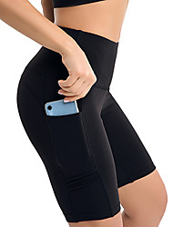 billige -Dame Yoga bukser Sport Helfarve Bomuld Leggins Underdele Zumba Dans Gym træning Sportstøj Blød Butt Lift Mikroelastisk Tynd