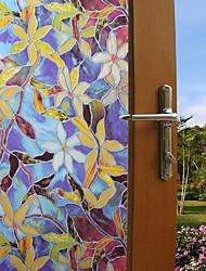Недорогие -мода цвет растений оконная пленка&усилитель; наклейки украшения цветочные / с рисунком геометрические / персонаж ПВХ (поливинилхлорид) стикер окна / смешные