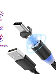Недорогие -кабель молнии 2.0 м (6.5 футов) плетеный / магнитный / быстрая зарядка нейлоновый USB-кабель-адаптер для Ipad / Iphone