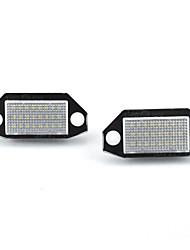 povoljno -2pcs / set bez lampica broj svjetla registarske tablice za ford mondeo mk3 2000-2007