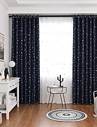 Недорогие -Художественный Конфиденциальность 2 шторы Занавес Гостиная   Curtains