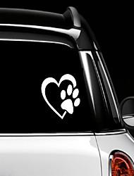 Недорогие -Сердце с собачьей лапой щенок любовь 4 (цвет белый) виниловая наклейка на наклейку для окна окна грузовика