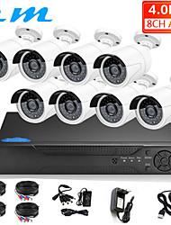 Недорогие -8-канальный AHD коаксиальный 4 миллиона оборудование для мониторинга высокой четкости DVR рекордер с жестким диском мобильный телефон удаленной камеры