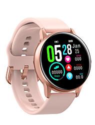 billige -dt nr.1 dt88 kvinder smartwatch android ios bluetooth vandtæt pulsmåler blodtryk måling sports kalorier forbrændt skridttæller opkald påmindelse sove tracker stillesiddende påmindelse smart ur