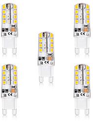 Недорогие -5 шт. 5 W Двухштырьковые LED лампы 300 lm G9 T 32 Светодиодные бусины SMD 2835 Новый дизайн Тёплый белый Белый 220-240 V 110-120 V
