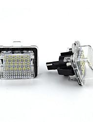 Недорогие -2 шт. / Компл. Белый номерной знак светодиодный свет ошибка бесплатно подходит для BenZ W204 / W212 / W216 / W221 / W207