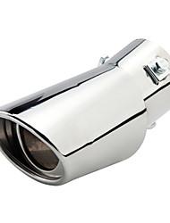 Недорогие -Нержавеющая сталь диаметром 63 мм, изогнутая нержавеющая сталь, выхлопная труба автомобильного глушителя, модифицированная хвостовая часть - изогнутая двухтрубная площадь / тип - изогнутая косая