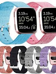 Недорогие -Ремешок для часов для Fitbit Versa Fitbit Классическая застежка Материал Повязка на запястье