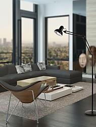 Недорогие -светодиодный торшер для чтения качели кронштейн полный спектр естественного дневного света с металлическим основанием регулируемая головка для гостиной, спальни, офиса