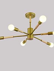 hesapli -JSGYlights 6-Işık Doğrusal Gömme Montajlı Işıklar Ortam Işığı Boyalı kaplamalar Ahşap Metal Yeni Dizayn 110-120V / 220-240V