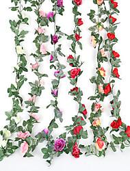 Недорогие -3 шт. Моделирования бархат роза цветок ротанга кондиционер шланг украшения фруктовый магазин торговый центр фестиваль украшения свадьба свадьба отель спальня чердак украшения цветок винограда