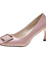 Недорогие -Жен. Обувь на каблуках На шпильке Квадратный носок Полиуретан Лето Черный / Красный / Розовый