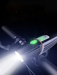 Недорогие -Светодиодная лампа Велосипедные фары Передняя фара для велосипеда LED Горные велосипеды Велоспорт Водонепроницаемый Несколько режимов Супер яркий 18650 450 lm Перезаряжаемая батарея Белый