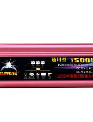 Недорогие -высокое качество автомобильный инвертор 12vand24v до 110v 1500w многофункциональное автомобильное зарядное устройство / инвертор / конвертер с USB-разъемом