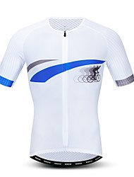 hesapli -JPOJPO Yenilik Erkek Kısa Kollu Bisiklet Forması - Beyaz Bisiklet Forma Üstler Nefes Alabilir Nem Emici Hızlı Kuruma Spor Dalları Polyester Elastane Terylene Dağ Bisikletçiliği Yol Bisikletçiliği