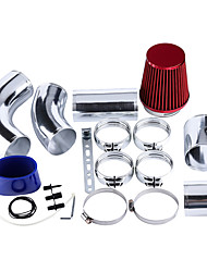 Недорогие -76 мм / 3 алюминиевых универсальных автомобиля холодного воздуха системы фильтрации воздуха шланг трубы трубы комплект