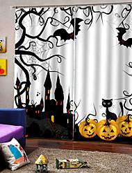 Недорогие -мультфильм хэллоуин тема окна шторы личность оригинальные утолщение затемнения пользовательские шторы для дома decro