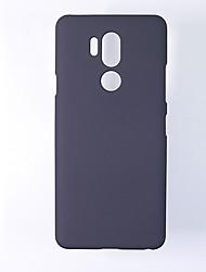 Недорогие -Кейс для Назначение LG LG G7 / LG G8 / LG G5 Ультратонкий Кейс на заднюю панель Однотонный ТПУ