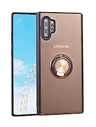 Недорогие -Кейс для Назначение SSamsung Galaxy Galaxy Note 10 / Galaxy Note 10 Plus Кольца-держатели / Ультратонкий Кейс на заднюю панель Однотонный ТПУ