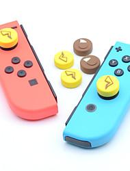 Недорогие -Комплекты игровых аксессуаров Назначение Nintendo Переключатель ,  Милый Комплекты игровых аксессуаров Полный силикон для тела 4 pcs Ед. изм