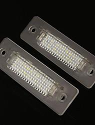 Недорогие -2 x белые светодиодные лампы освещения номерного знака для Porsche 911 Carrera с электронной маркировкой