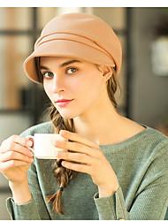 Недорогие -100% шерсть Цветы / Головные уборы / Аксессуары для волос с Кепки / Отделка 1 На каждый день / на открытом воздухе Заставка