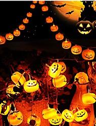 Недорогие -3 м хэллоуин тыква строка огни 20 светодиодов желтый бар партия декоративные 3 v 1 комплект