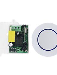 Недорогие -интеллектуальное реле 1-канальное реле / ac85v-265v 1-канальный приемник с дистанционным управлением, обучающий код / светодиод / лампа накаливания 433 МГц