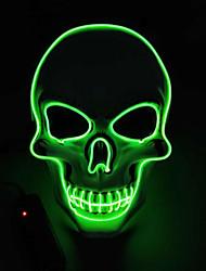 Недорогие -светодиодная маска ужасов хэллоуин косплей вечеринка неоновые маски череп светящиеся в темноте маски светящиеся маски