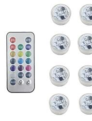 Недорогие -Водонепроницаемые батарейки RGB погружной светодиодный ночник подводный ночник чайные светильники для вазы чаши аквариум и партия свадебный декор (содержат пульт дистанционного управления / содержат