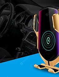 Недорогие -Смарт-автоматический зажим ци автомобильное беспроводное зарядное устройство 10 Вт быстрая зарядка 360