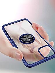 Недорогие -прозрачный жесткий чехол для телефона для iphone 11 pro / iphone 11 / iphone 11 pro max автомобильные магнитные чехлы для iphone xs max xr xs x 8 плюс 8 7 плюс 7 6 плюс 6 крышка держателя кольца для